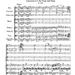 Mozart, concerto per flauto e arpa K299