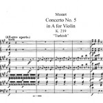 MOzart concerto per violino K 219