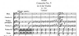 Mozart, concerto per violino K 219. Il concerto con tantissimi unicum
